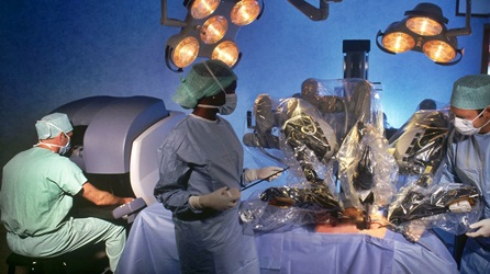 Application Massive Parallel Computing: Heart Surgery By A Robot Arm